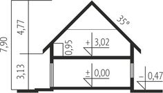 Projekt domu Economic wersja A - Modern Bungalow Exterior, Modern Bungalow House, Small Modern House Plans, Mocca, Home Design Plans, Home Projects, Planer, Floor Plans, House Design