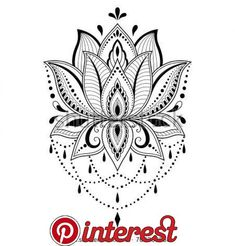 Henna tattoo flower template in Indian style. Meh… Henna tattoo flower template in Indian style. Ornamental pattern in the oriental style. Lotus Tattoo Design, Flower Tattoo Designs, Flower Tattoos, Lotus Mandala Design, Design Tattoos, Bild Tattoos, Body Art Tattoos, Sleeve Tattoos, Henna Tattoos
