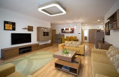 Egyterű lakás, 4 az 1-ben. Előszoba, konyha, étkező, nappali egy légtérben, egyedi tervezésű bútorokkal berendezve. Flat Screen, Blood Plasma, Flatscreen, Dish Display