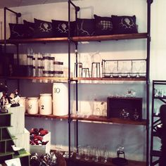 Industrial Pipe Shelves   Industrial Pipe and Reclaimed Wood Shelving by JSReclaimedWood, $49.00