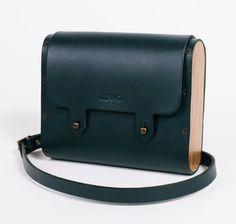 Crossbody Bag Genuine Leather Wood Minimalist by Zernobags on Etsy