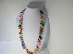 Multi-colored  Barbie High heel necklace with colorful beads/ 36  inch with 4 inch extender / ITEM 6-224 by ZoesBarbieShoes on Etsy https://www.etsy.com/uk/listing/473110464/multi-colored-barbie-high-heel-necklace