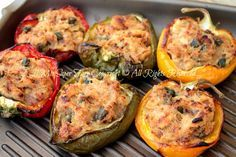 Peperoni+ripieni+di+tonno+al+forno