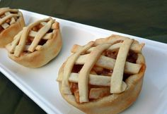 Individual apple pie desserts