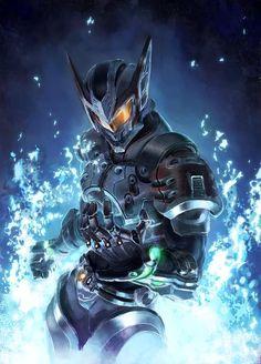 flag custom (gundam, gundam and kamen rider) drawn by yahako - Danbooru Arte Ninja, Arte Robot, Robot Concept Art, Armor Concept, Fantasy Armor, Dark Fantasy Art, Fantasy Character Design, Character Art, Foto Batman