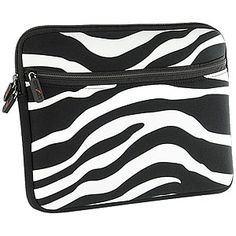 Luxmo Neo Case for Apple iPad, HP TouchPad & Notebook Laptops, #Zebra Stripes 10-inch $16.99 From #DayDeal