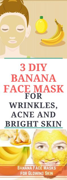 3 DIY Banana Face Mask For Acne, Wrinkles & Bright Skin!!..Miracleee!