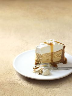 Salted caramel and vanilla baked cheesecake
