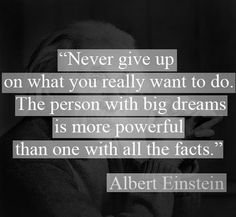 Never Give Up. Dream Big! www.BestLiving.biz
