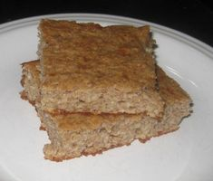 THM (E) Banana Bars: 2 c of old-fashioned oats, ½ tsp salt, 1-2 tsp cinnamon, 1/3 c Truvia, 1 Tb baking powder, 1 c plain FF Greek yogurt, 2 large bananas, 2 Tb vanilla, 1 c egg whites  Dump the oats into the blender and grind to oat flour. Transfer to a large bowl, and add next 4 ingredients. Pour the remaining ingreds in blender, and whir until well-combined (and chunk free). Pour the wet ingredients into the dry, and fold together. Pour into a greased 9x13 pan, and bake for 20-25 min at…