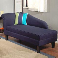 Leena Indigo Blue Storage Chaise