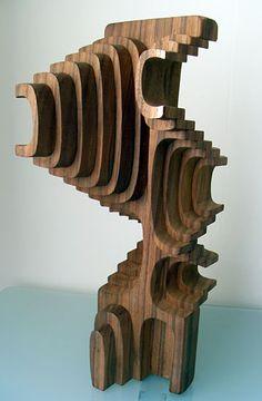sich selbst zerst rendes system thomas thiele kunst art holzskulpturen wood. Black Bedroom Furniture Sets. Home Design Ideas