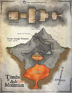 Tombs of Ashfire Mountain (Color Version)