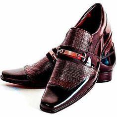 Sapato Social Em Couro Verniz Super Luxo/sapatofran - R$ 164,90