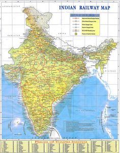 Indian Railway Map - in memory of my paternal grandfather who worked as a guard on the Indian railway ..