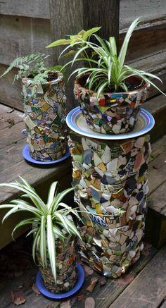 Mosaics flower pots
