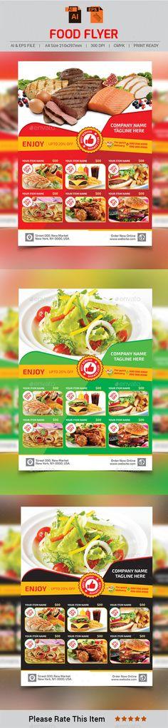 Modern Restaurant Food Menu Flyer Template Modern restaurant - food flyer template