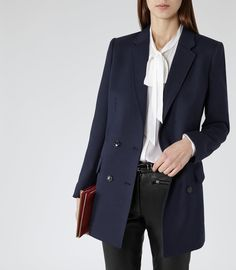 Women's Clothes - Trendy Fashion Clothing For Sale Online Double Breasted Jacket, Trendy Outfits, Work Outfits, Reiss, Office Wear, Blazer Jacket, Work Wear, What To Wear, Fashion Beauty