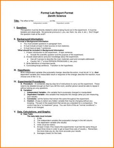 College application report writing biology