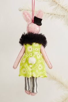 Soiree Bunny Ornament - anthropologie.com