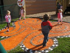 Butterfly Labyrinth Peace Path - part of our outdoor classroom (c) Miniapple Int'l Montessori