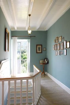 Achilleio house rental - stairs and landing hallway colour schemes, hallway colours, bedroom color Hallway Colour Schemes, Bedroom Color Schemes, Bedroom Colors, Kitchen Colour Schemes, Stair Landing Decor, Staircase Landing, Staircase Ideas, Stairs Colours, Hallway Colours