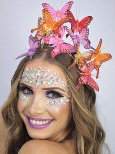 New fails design for teens Ideas Family Halloween Costumes, Halloween Season, How To Make Hair, Make Up, Butterfly Wedding Theme, Carnival Fashion, Diy Carnival, Glitter Gel Polish, Glitter Nails