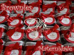 Brownie - Lembracinha  Maternidade - Mimos para os amigos na chegada da Sofia