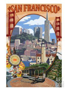 San Francisco, California Scenes Art Print at Art.com