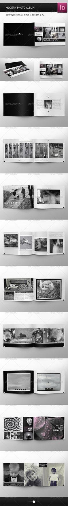 Modern Photo Album - Photo Albums Print Templates