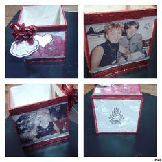 Transver wooden box Christmas gift