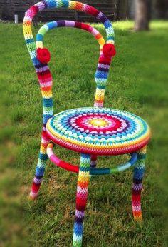 cadeira crochê