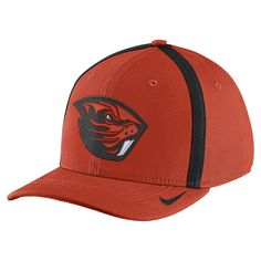100% authentic ac652 513db Nike Men s Oregon State Beavers Orange Aerobill Swoosh Flex Football  Sideline Hat, Size  L XL, Team