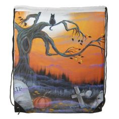 Halloween Drawstring Backpack