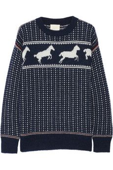 Band of Outsiders Fair Isle Horses wool-blend sweater | THE OUTNET