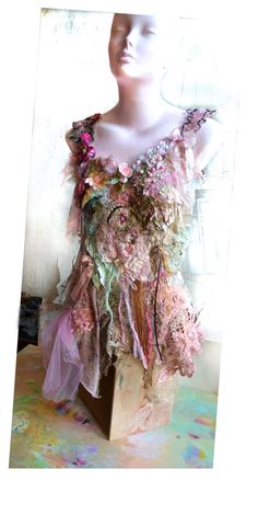 Art To Wear Pink/Peach/Mint Top FAIRY GIRL by Paulina722 on Etsy