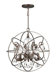 Show details for Crystorama Lighting 9026-EB-CL-MWP Chandeliers Solaris