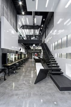 Hair Salon in the Golden Hall in Marousi, Greece by gfra Architecture