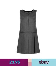 f25b340c8107 Girls  Clothing (2-16 years) Ages 2 - 14 Girls School Pinafore Dress  Charcoal Grey School Uniform  ebay  Fashion