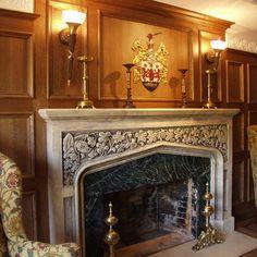 English Tudor Fireplace Mantel - Gothic Fireplaces Cast Stone ...