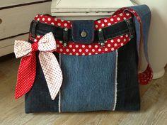 Umhängetaschen - < MARIA > Umhängetasche aus Jeans - ein Designerstück von FADENREICH-elt bei DaWanda