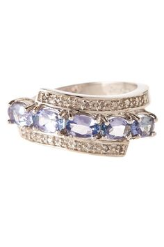 Tanzanite & White Diamond Wrapped Ring - 0.02 ctw by Savvy Cie on @HauteLook