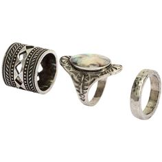 3er-Pack Ringe 5 ($9.99) via Polyvore featuring jewelry, rings, metal jewelry and metal rings