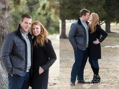 Jon & Lauren's Winter Engagement Session at Cranwell Resort - Tricia McCormack Photography