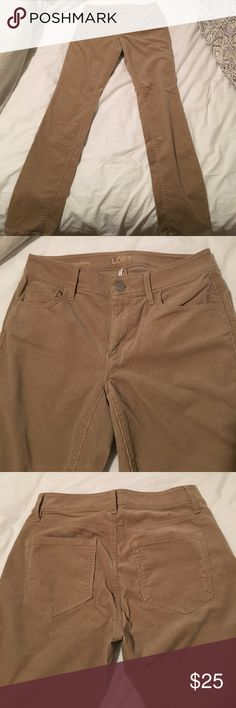 Ann Taylor Loft skinny corduroy pants Really comfortable corduroy skinny pants!! Never worn but I accidentally took the tags off. Perfect condition and extremely comfortable. LOFT Pants Skinny