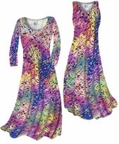 NEW! Colorful Grid & Spots Print - Plus Size & Supersize Standard or Cascading A-Line or Princess Cut Dresses & Shirts, Jackets, Pants, Palazzo's or Skirts Lg to 9x. Please visit store for more ordering info.