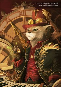 Le Manipulateur de Temps by CoudrayMathieu.deviantart.com on @deviantART Chat Steampunk, Steampunk Theme, Steampunk Fashion, I Love Cats, Cute Cats, Steampunk Animals, Image Chat, Cat Character, Jolie Photo