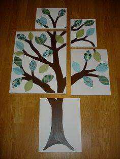 Just like the pottery barn one but DIY. Maybe Beth could do this instead of a mural.