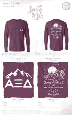 Alpha Xi Delta | AXiD | Good Friends Great Adventures | Sisterhood Retreat | Outdoors Design | South by Sea | Greek Tee Shirts | Greek Tank Tops | Custom Apparel Design | Custom Greek Apparel | Sorority Tee Shirts | Sorority Tanks | Sorority Shirt Designs