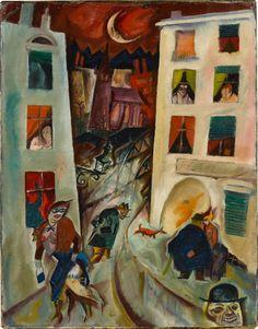 amare-habeo:  George Grosz (1893-1953) - The Road (Die Straße), 1915 Oil on canvas Staatliche Kunsthalle Baden-Baden, Germany